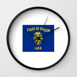 flag of oregon,america,usa,west,pacific, Beaver State,Oregonian,Portland,Salem,Eugene Wall Clock