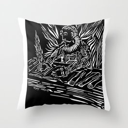 Featherico Throw Pillow