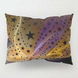 Ethereal Flame with Stars Pillow Sham