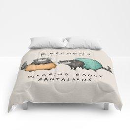 Raccoons Wearing Baggy Pantaloons Comforters