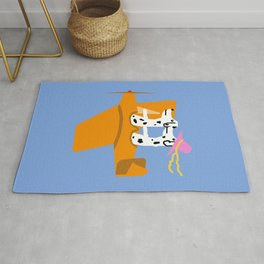 Airplane and Dalmatians Rug