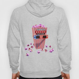 Pink Candy Popcorn and 3D Movie glasses Hoody