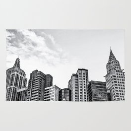 modern buildings at Las Vegas, USA in black and white Rug