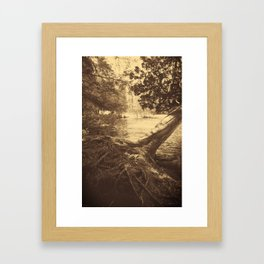 Mist on the River Framed Art Print