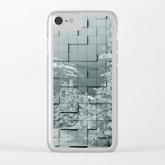 Winter collage Clear iPhone Case