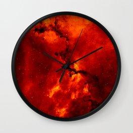 Rosette Nebula Space Photography Wall Clock