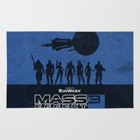 mass effect Area & Throw Rugs featuring Mass Effect 3 by Bill Pyle