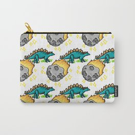 Dinosaur and Meteorite Pattern Carry-All Pouch