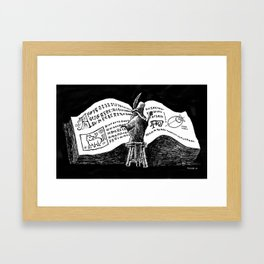 Research Framed Art Print