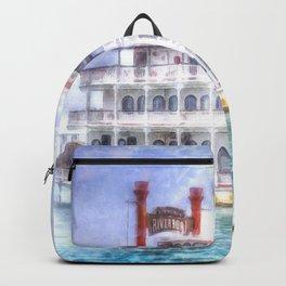 New Orleans Paddle Steamer Art Backpack