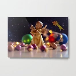 Concept Christmas : Christmas angel Metal Print
