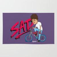 sad Area & Throw Rugs featuring Sad by Chris Piascik