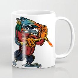 Cartoon Mascot Image of a Raven Coffee Mug