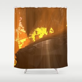 NW School Of Art (3D Digital Fractal Art) Shower Curtain