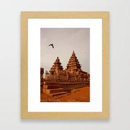 Indian Shore Temple Framed Art Print