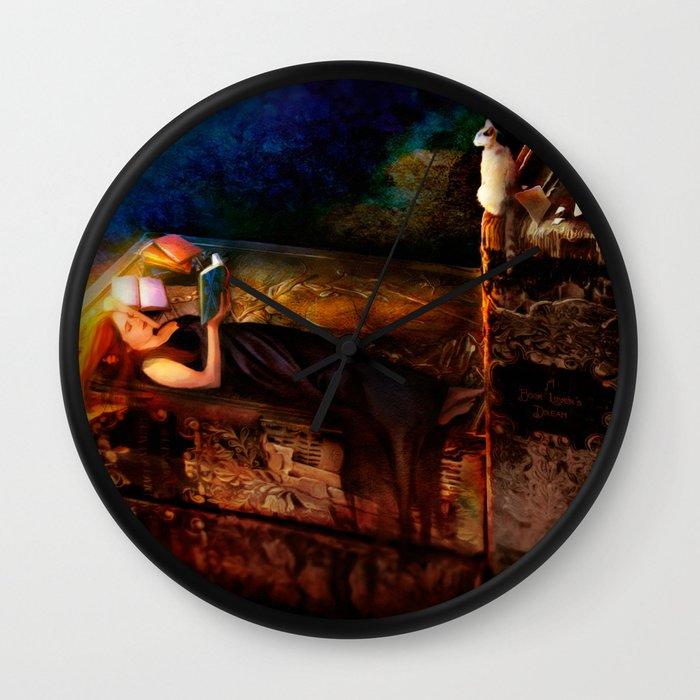 Ex Libris - A Book Lover's Dream Wall Clock