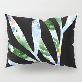 January leaves -watercolour on black background Pillow Sham
