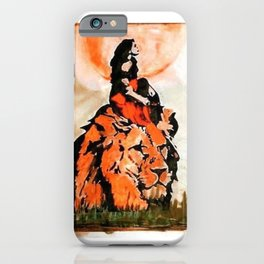 durg maa handpainted on a lion iPhone Case