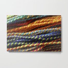Rainbow Handspun Yarn Close up Metal Print