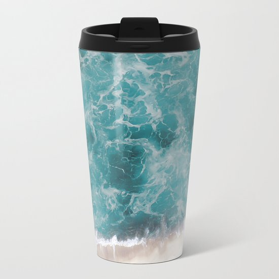 Ocean waves Metal Travel Mug