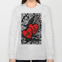 Hearts pierced with an arrow Long Sleeve T-shirt