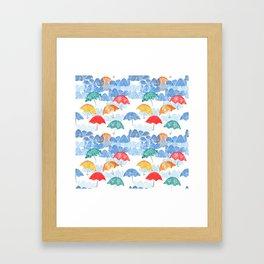 Umbrella Spring Framed Art Print