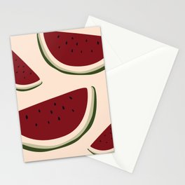 Summer Fruit - Illustrated Watermelon Slices Stationery Cards