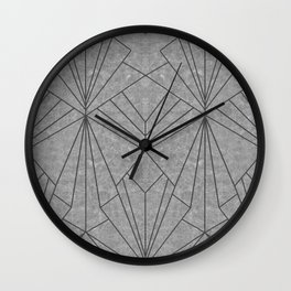 Art Deco in Black & Grey - Large Scale Wall Clock