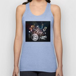 Drum Machine - The Band's Engine Unisex Tank Top