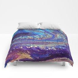 Iridescent Fantasy Abstract Comforters