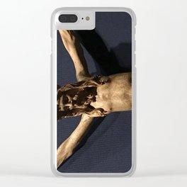 Sideways Jesus Clear iPhone Case