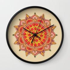Sacred Pizza Wall Clock
