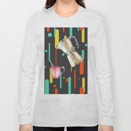 Coffee Pop Art Collage Good Morning Long Sleeve T-shirt