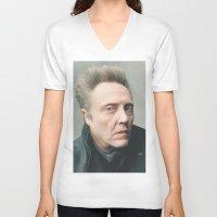 christopher walken V-neck T-shirts featuring Walken by AXLWD