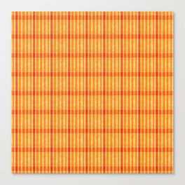Plaid_Orange Canvas Print