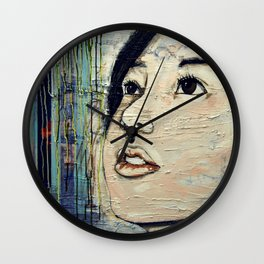 Longing for closure Wall Clock
