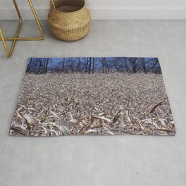 Cornfield in the fall Rug