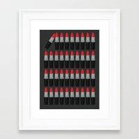 lipstick Framed Art Prints featuring Lipstick by Headline Honey