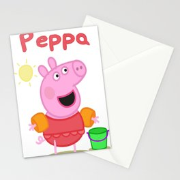 peppa 2 Stationery Cards