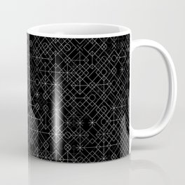 Black and White Overlap 1 Coffee Mug