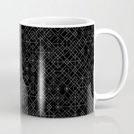 Black and White Overlap 1 Coffee Mug