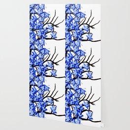 Maple Leaves Blue Wallpaper