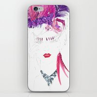 burlesque iPhone & iPod Skins featuring Burlesque by Kats Illustration