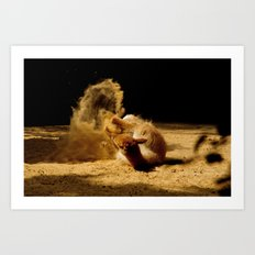 Animal sandwave Art Print