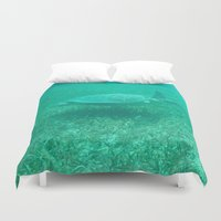 turtle Duvet Covers featuring Turtle by MR_W