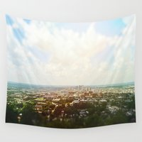 alabama Wall Tapestries featuring Birmingham, Alabama by Emily Day