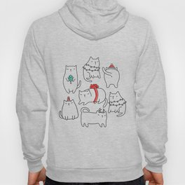 Fat Christmas cats Hoody