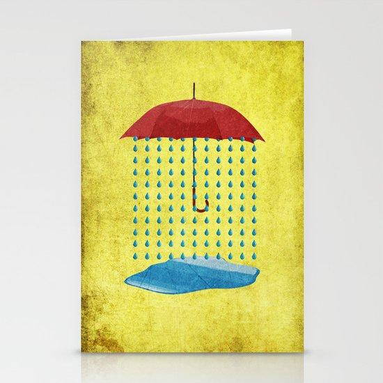 """Inside Rain"" Stationery Cards"