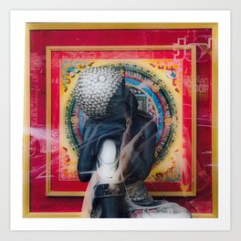 How much is that Buddah in the Window Art Print