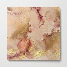Elegant Watercolor Modern Abstract Painting Metal Print